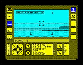In game image of Carrier Command on the Sinclair ZX Spectrum.