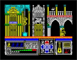 In game image of Casanova on the Sinclair ZX Spectrum.