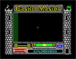 In game image of Castle Master on the Sinclair ZX Spectrum.