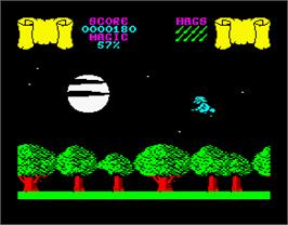 In game image of Cauldron on the Sinclair ZX Spectrum.