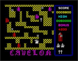 In game image of Cavelon on the Sinclair ZX Spectrum.