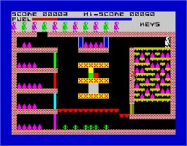 In game image of Caves of Doom on the Sinclair ZX Spectrum.