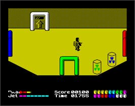 In game image of Chain Reaction on the Sinclair ZX Spectrum.