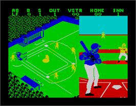 In game image of Championship Baseball on the Sinclair ZX Spectrum.