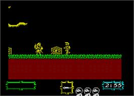 In game image of Chart Attack on the Sinclair ZX Spectrum.