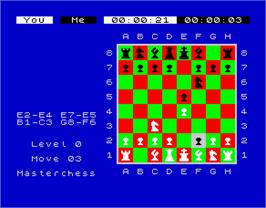 In game image of Chess on the Sinclair ZX Spectrum.