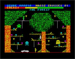 In game image of Chiller on the Sinclair ZX Spectrum.