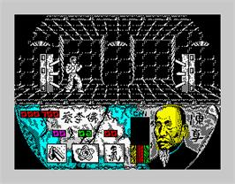 In game image of Choy-Lee-Fut Kung-Fu Warrior on the Sinclair ZX Spectrum.