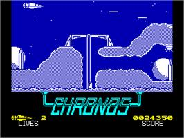 In game image of Chronos: A Tapestry of Time on the Sinclair ZX Spectrum.