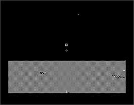 In game image of Chuck Yeager's Advanced Flight Trainer on the Sinclair ZX Spectrum.