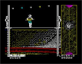 In game image of Circus Games on the Sinclair ZX Spectrum.