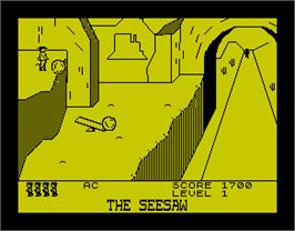 In game image of Cliff Hanger on the Sinclair ZX Spectrum.