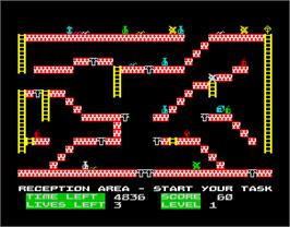 In game image of Colin The Cleaner on the Sinclair ZX Spectrum.