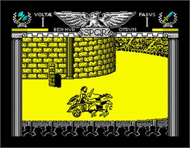 In game image of Coliseum on the Sinclair ZX Spectrum.