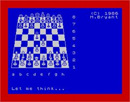 In game image of Colossus 4 Chess on the Sinclair ZX Spectrum.