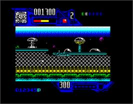 In game image of Comando Tracer on the Sinclair ZX Spectrum.