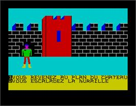 In game image of Commando on the Sinclair ZX Spectrum.
