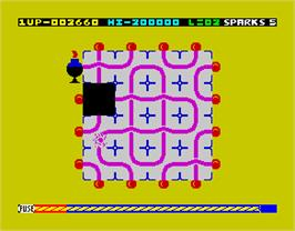 In game image of Confuzion on the Sinclair ZX Spectrum.