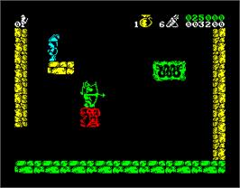 In game image of Conquestador on the Sinclair ZX Spectrum.