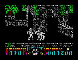 In game image of Corsarios on the Sinclair ZX Spectrum.