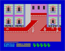 In game image of Cosa Nostra on the Sinclair ZX Spectrum.