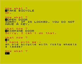 In game image of Countdown to Doom on the Sinclair ZX Spectrum.