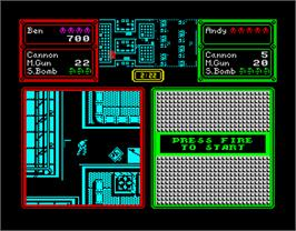 In game image of Crack Down on the Sinclair ZX Spectrum.