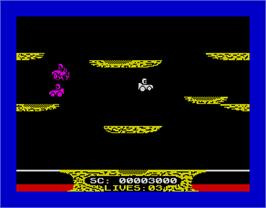 In game image of Crazy Cars 2 on the Sinclair ZX Spectrum.