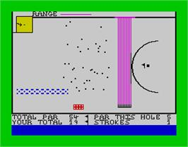 In game image of Crazy Golf on the Sinclair ZX Spectrum.