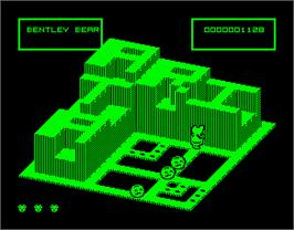 In game image of Crystal Castles on the Sinclair ZX Spectrum.