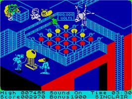 In game image of Danger Mouse in Double Trouble on the Sinclair ZX Spectrum.