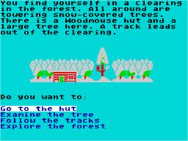 In game image of Danger Mouse in the Black Forest Chateau on the Sinclair ZX Spectrum.