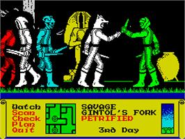 In game image of Dark Sceptre on the Sinclair ZX Spectrum.