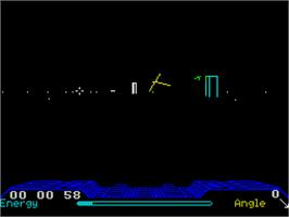 In game image of Dark Star on the Sinclair ZX Spectrum.
