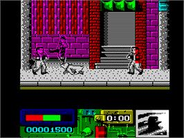 In game image of Darkman on the Sinclair ZX Spectrum.