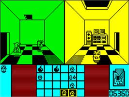 In game image of Deactivators on the Sinclair ZX Spectrum.