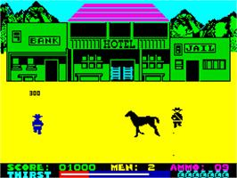 In game image of Dead or Alive on the Sinclair ZX Spectrum.