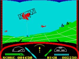 In game image of Deep Strike on the Sinclair ZX Spectrum.