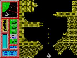 In game image of Delta on the Sinclair ZX Spectrum.