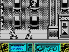 In game image of Dick Tracy on the Sinclair ZX Spectrum.
