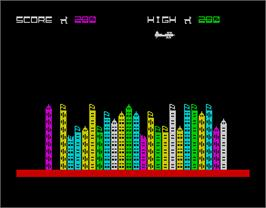 In game image of Dive Bomber on the Sinclair ZX Spectrum.