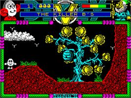 In game image of Dizzy's Excellent Adventures on the Sinclair ZX Spectrum.