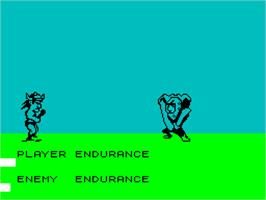In game image of Doc the Destroyer on the Sinclair ZX Spectrum.