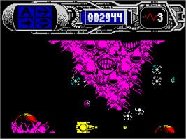 In game image of Dominator on the Sinclair ZX Spectrum.