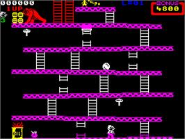 In game image of Donkey Kong on the Sinclair ZX Spectrum.