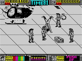 In game image of Double Dragon II: The Revenge on the Sinclair ZX Spectrum.