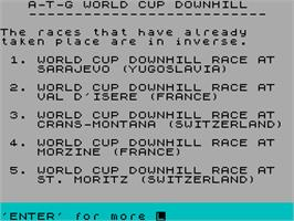 In game image of Downhill Challenge on the Sinclair ZX Spectrum.