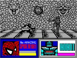 In game image of Dr. Doom's Revenge on the Sinclair ZX Spectrum.