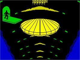 In game image of Dragon's Lair on the Sinclair ZX Spectrum.