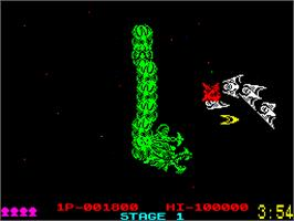 In game image of Dragon Breed on the Sinclair ZX Spectrum.